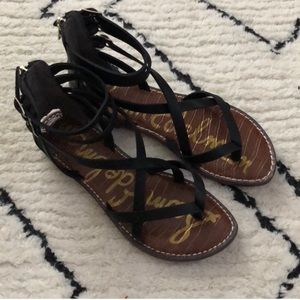 Gladiator black sandals